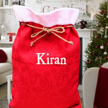 Traditional Red Santa Sack