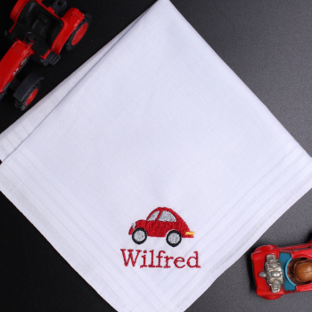 Car Embroidered Hanky