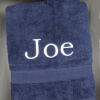 Personalised Bath Towel Navy Blue