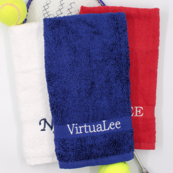Personalised Gym Towel Royal Blue