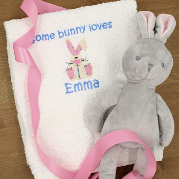 Embroidered Easter Gift Towel