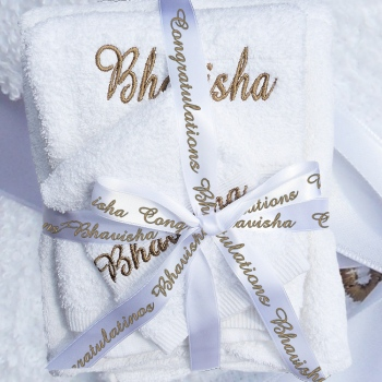3pc Towels Set with Ribbon