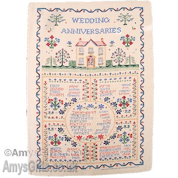 List Of Traditional Wedding Anniversary Gifts Uk : Anniversary Tea Towel Wedding Anniversaries Irish Linen Tea Towel
